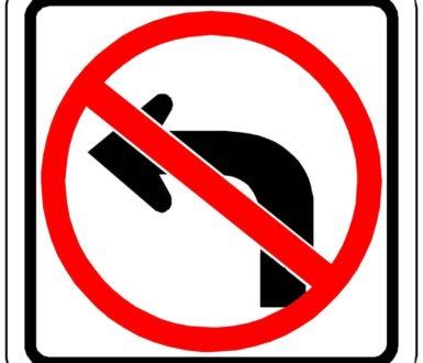 Temporary No Left Turn